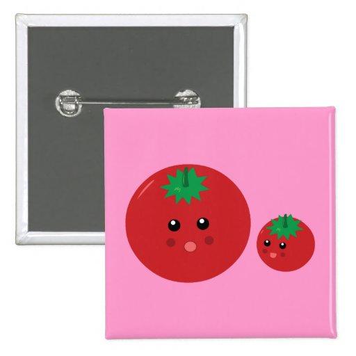 Cute Tomato Button