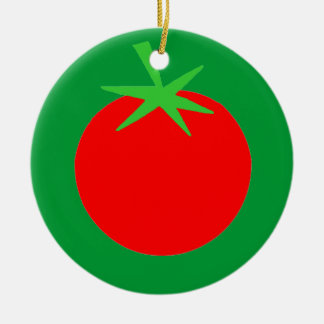 Cute Tomato Gardener Christmas Tree Ornament