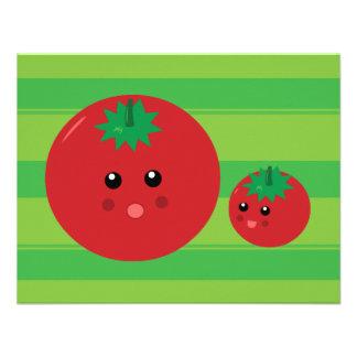 Cute Tomato Personalized Announcements