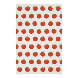 Cute tomato Pictures Pattern Poster