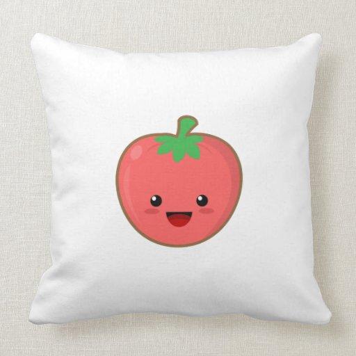 Cute Tomato Pillow Zazzle