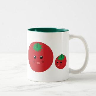 Cute Tomato Two-Tone Coffee Mug