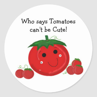Cute Tomatoes Classic Round Sticker