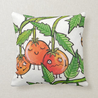Cute Tomatoes Throw Pillow