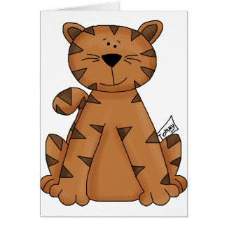 Cute Tommy Tiger Card