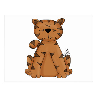 Cute Tommy Tiger Postcard
