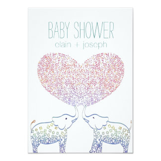 Cute Tons of LOVE Elephant Baby Shower Neutral Card