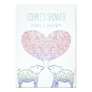 Cute Tons of LOVE Elephant COUPLES SHOWER Card