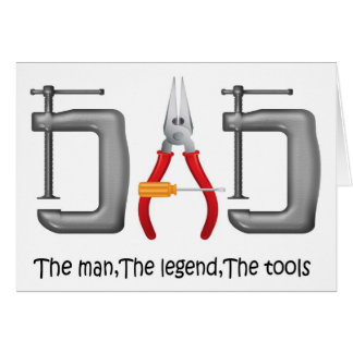 cute tool set DAD , Father's Day greetings Greeting Cards