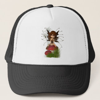 Cute Toon Autumn Fairy and Toadstool Trucker Hat