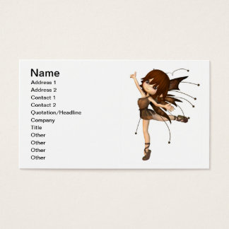 Cute Toon Autumn Fairy Business Card