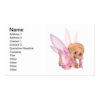 Cute Toon Ballerina Fairy in Pink Business Card