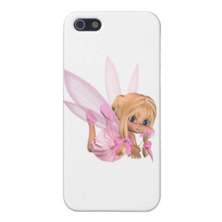 Cute Toon Ballerina Fairy in Pink - lounging Case For iPhone SE/5/5s