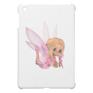 Cute Toon Ballerina Fairy in Pink - lounging iPad Mini Cases