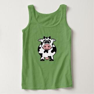 Cute Toon Cow Tank Top