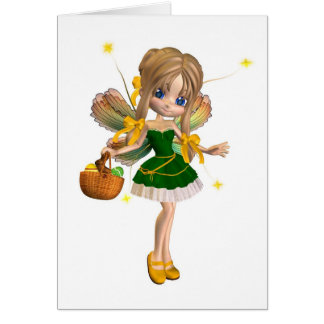 Cute Toon Easter Fairy - 1 Greeting Card