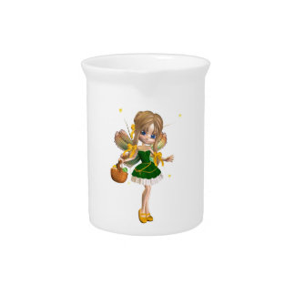 Cute Toon Easter Fairy - 1 Beverage Pitcher