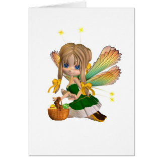 Cute Toon Easter Fairy - 2 Greeting Card