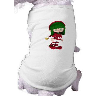 Cute Toon Elf Holiday Dog Apparel Shirt