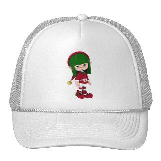 Cute Toon Elf Holiday Hat