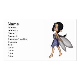 Cute Toon Fairy in Blue Flower Dress Business Card