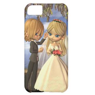 Cute Toon Wedding Couple on a Seaside Balcony iPhone 5C Cover