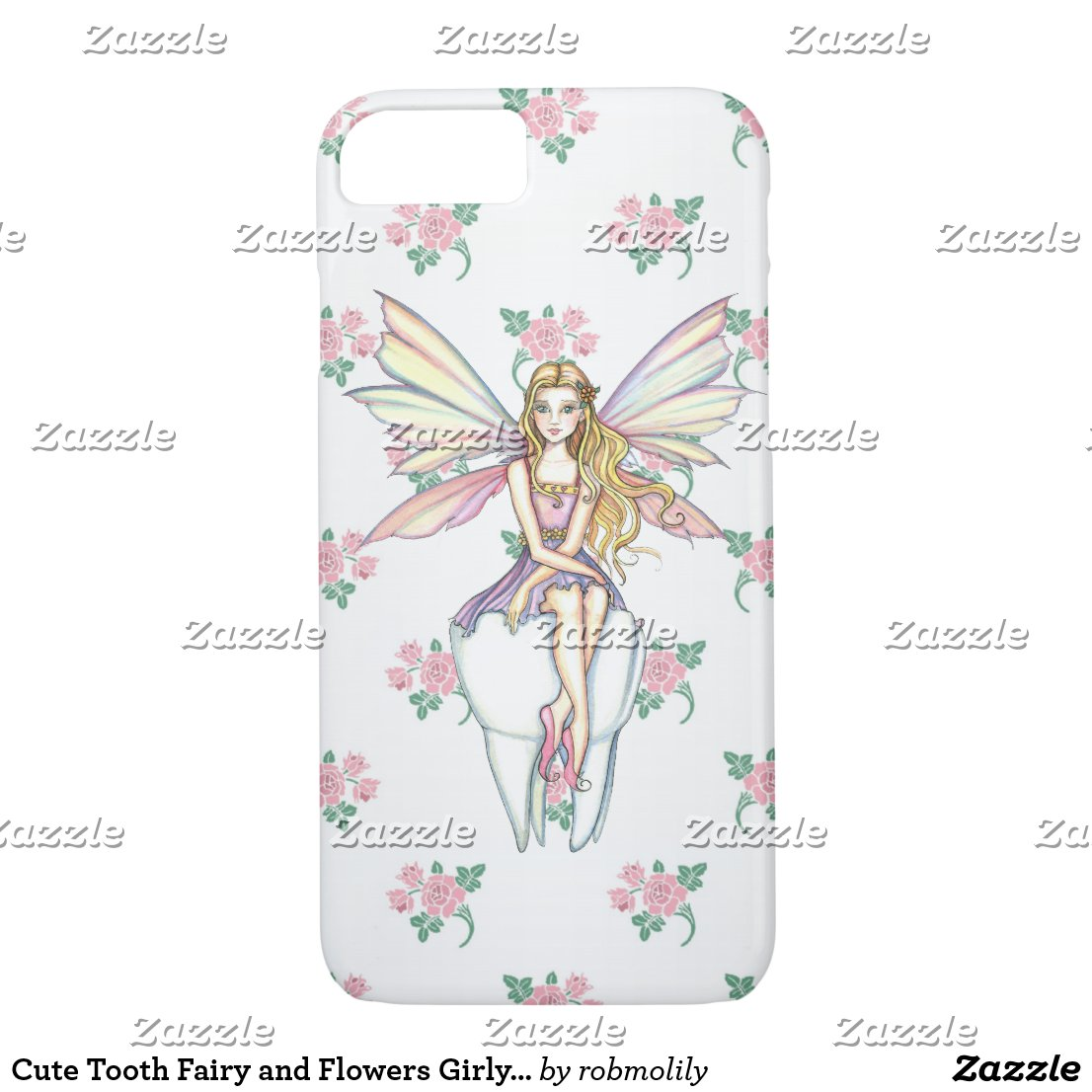 Cute Tooth Fairy and Flowers Girly iPhone 5 Case