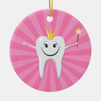Cute tooth fairy cartoon character ornament