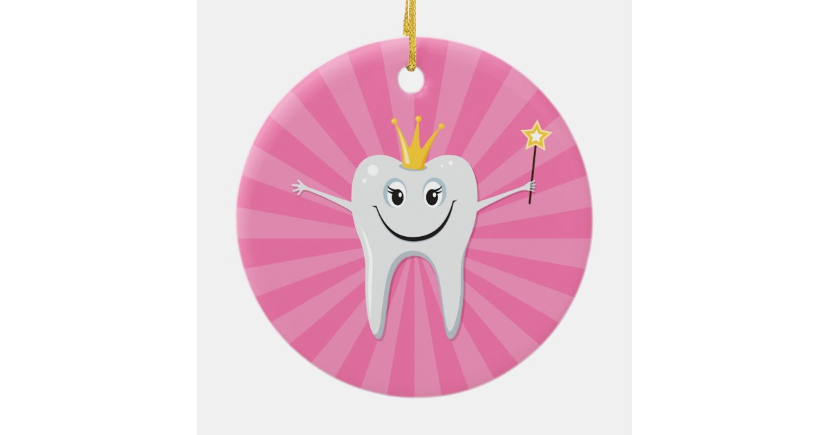 1 Toothed Cartoon Characters : Cute tooth fairy cartoon character ornament zazzle