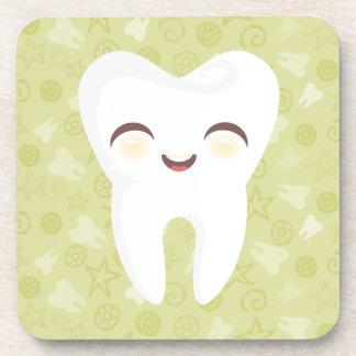 Cute Tooth - Green Customizable Coaster Set