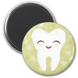 Cute Tooth - Green Magnet