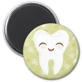 Cute Tooth - Green Magnet Refrigerator Magnets