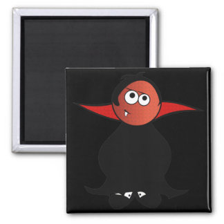 CUTE TOOTH PATCHY VAMPIRE DRACULA 2 INCH SQUARE MAGNET