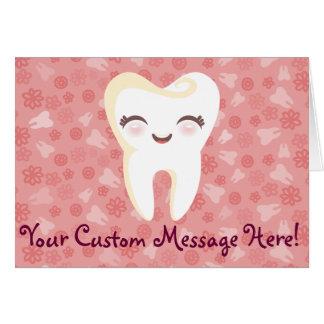 Cute Tooth - Pink - Custom Greeting Card