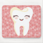 Cute Tooth - Pink Customizable Mousepad