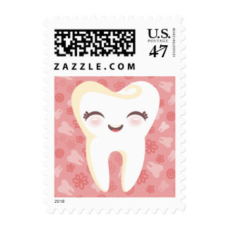 Cute Tooth - Pink - Postage Stamps