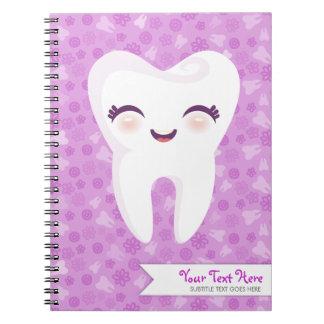 Cute Tooth - Purple Custom Notebook