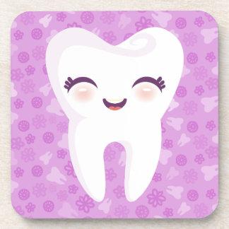 Cute Tooth - Purple Customizable Coaster Set