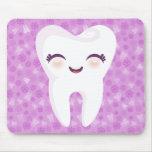 Cute Tooth - Purple Customizable Mousepad