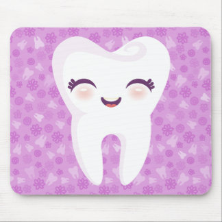 Cute Tooth - Purple Customizable Mousepad