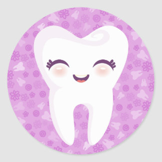 Cute Tooth - Purple Stickers