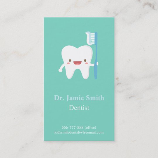 Cute tooth toothbrush kids dental business cards zazzle cute tooth toothbrush kids dental business cards reheart Choice Image