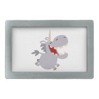 Cute Toothy Cartoon Unicorn Belt Buckle