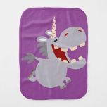 Cute Toothy Cartoon Unicorn Burp Cloth