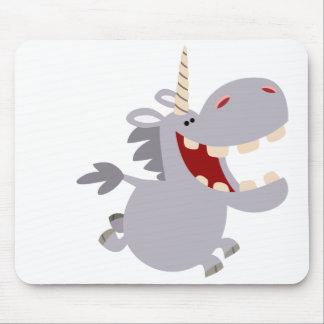 Cute Toothy Cartoon Unicorn Mousepad