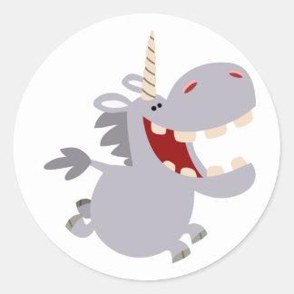 Cute Toothy Cartoon Unicorn Sticker