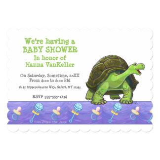 Cute Tortoise Baby Shower Card