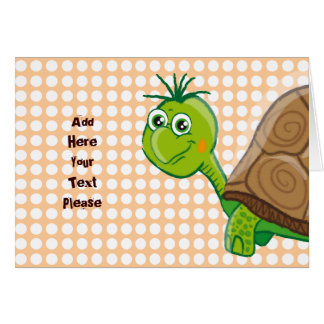 Cute Tortoise - Bubbles greeting card