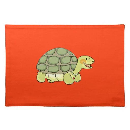 Cute tortoise cloth placemat