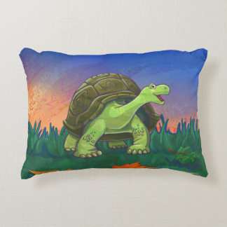 Cute Tortoise Heads and Tails Decorative Pillow